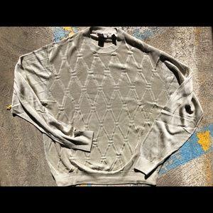 Men's XL Tulliano Champagne Sweater EUC